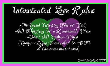 Intoxicated Love Rules by Bml1997