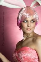 Happy Bunny Pink by eyefeather-stock