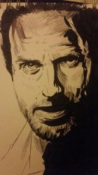 Rick Grimes Ink Sketch by MyPinkLifecOc