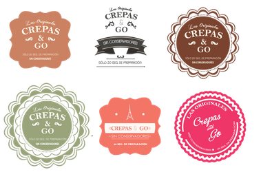 Crepas and Go Logo set by paujas