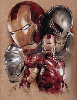 Iron Man - Armour Evolution by GabeFarber