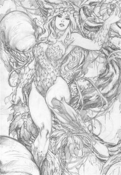 Carlos Silva: Poison Ivy by comiconart