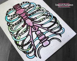 InkTober Day 20 - Abstract Rib-cage by ImportAutumn