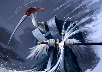 L5R Crane Samurai by WildjamDraws