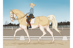 Jane Air training: dressage by Franset