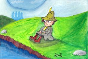 SNUFKIN FROM THE MOOMINS SPEED DRAWING +VIDEO by IDROIDMONKEY