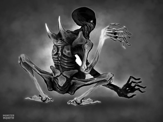 MONSTERMONTH No.2 - Skeletal by hubertspala