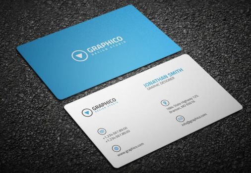 Clean Corporate Business Card by nazdrag