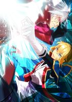 Ragna and Jin by Chaoplayer108
