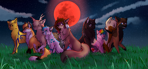 The Blood Moon Pack .:Redraw/Updated:. by Sabrina-Tellijohn