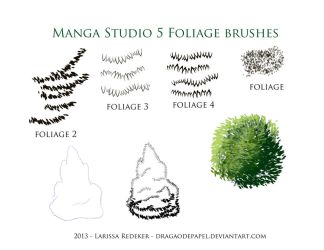 Foliage Brushes for Manga Studio 5 by dragaodepapel