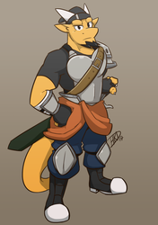 An Armor Swordsdragon by HiKazeDragon