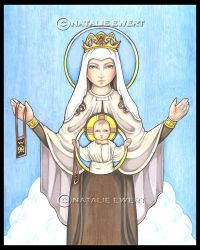 Our Lady of Mount Carmel by natamon