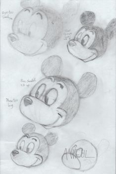 Preston Blair's Animation: Mickey First Attempts by Seppukrow
