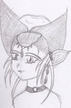 Rediscovered work- Elf girl with dramatic hat by Shaboomi-Barakuti
