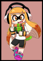 inklig girl Cx (maybe draw to the inkling boy)  by ruru-ernandesu