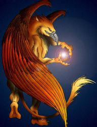 Gryphon Mage - Star Keeper by jocarra