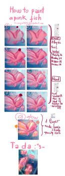 How to draw a pink fish by Tonowa