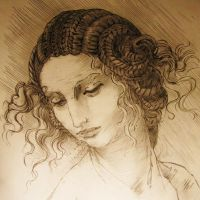 Study for the head of Leda by benthic