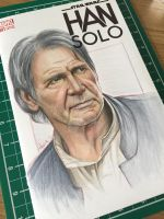 Han Solo sketch cover by BikerScout