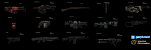 [DL] Wolfenstein The New Colossus Weapons (Props) by Stefano96