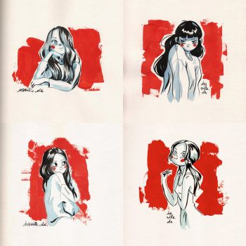 girl sketches by Iraville