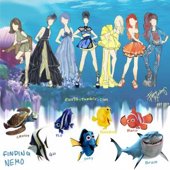 Finding Nemo Fashion by Ellphie