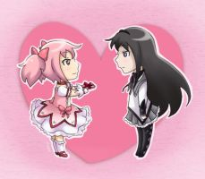 HomuMado Valentine's Day Card by koffing109