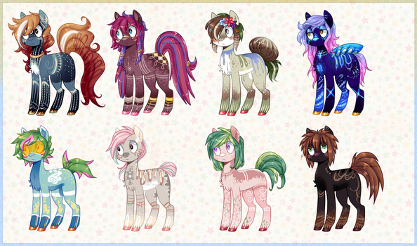 Pony Adopts Batch 10 - 2/8 OPEN by Tea-Adoptables