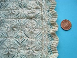 1:12th scale Apricot Leaf bedspread by buttercupminiatures