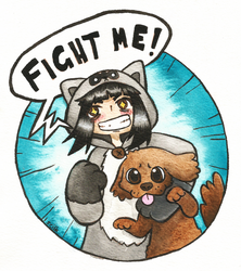 Fight Me by scilk