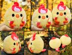 Round Moltres Borb I Pokemon plush by PinkuArt