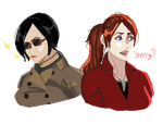Pixelart: Ada And Claire by Soraya-Mendez