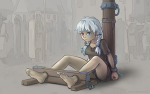 Polina in the stocks by VyazinRei