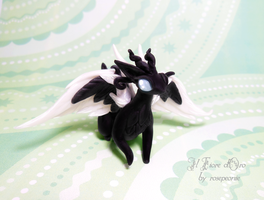 Pearl, Whitewing dragon by rosepeonie