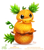 Daily Paint 1777# Swineapple by Cryptid-Creations