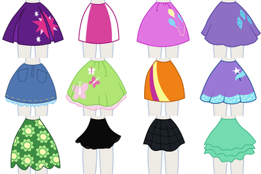EqG Dress Up - preview (skirts) by Liggliluff
