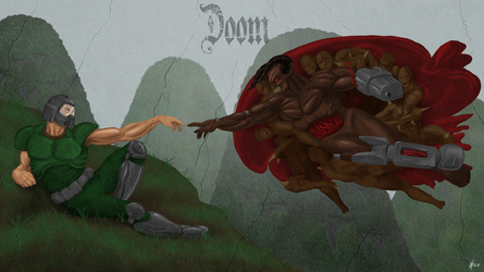 The Creation of Doomguy by Kracov