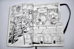 Coffee Shop sketch 2 by The-Hand
