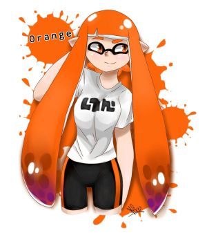 Splatoon Orange by Aligamer005