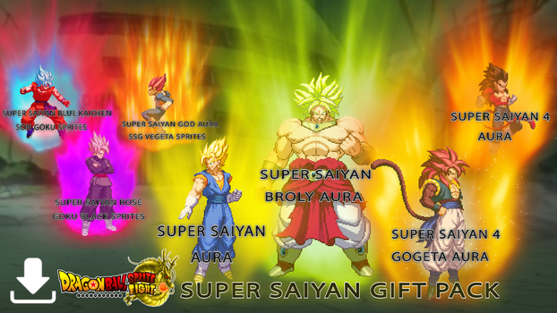 Facebook Super Saiyan Pack Christmas Day Download! by DBSpriteFight
