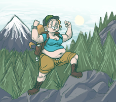 Bulky Hike by bloopity