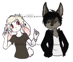 story of a bratty rich bunny and a cheeky old wolf by cozycoffee