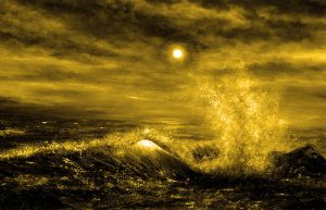 Golden Wave by AnnMarieBone