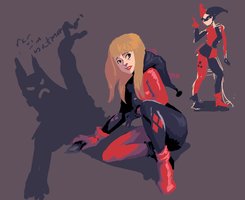 Harley Quinn sketches by sparkyrabbit