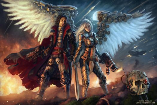 WH40k: Darius and Zayel by Jorsch
