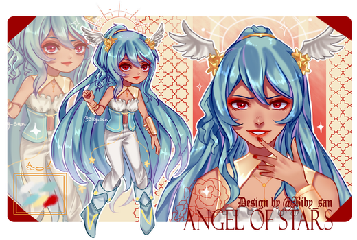 GIVEAWAY!! ADOPTABLE: Angel of Stars -CLOSED- by Biby-san