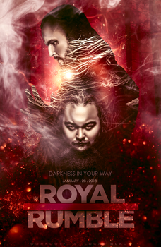 Royale Rumble Poster Bray Wyatt Vs Aleister Black by workoutf