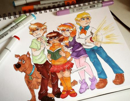 Scooby Gang by CartoonCaster21