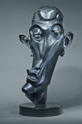 Bronze abstract head by xRedRoosterx